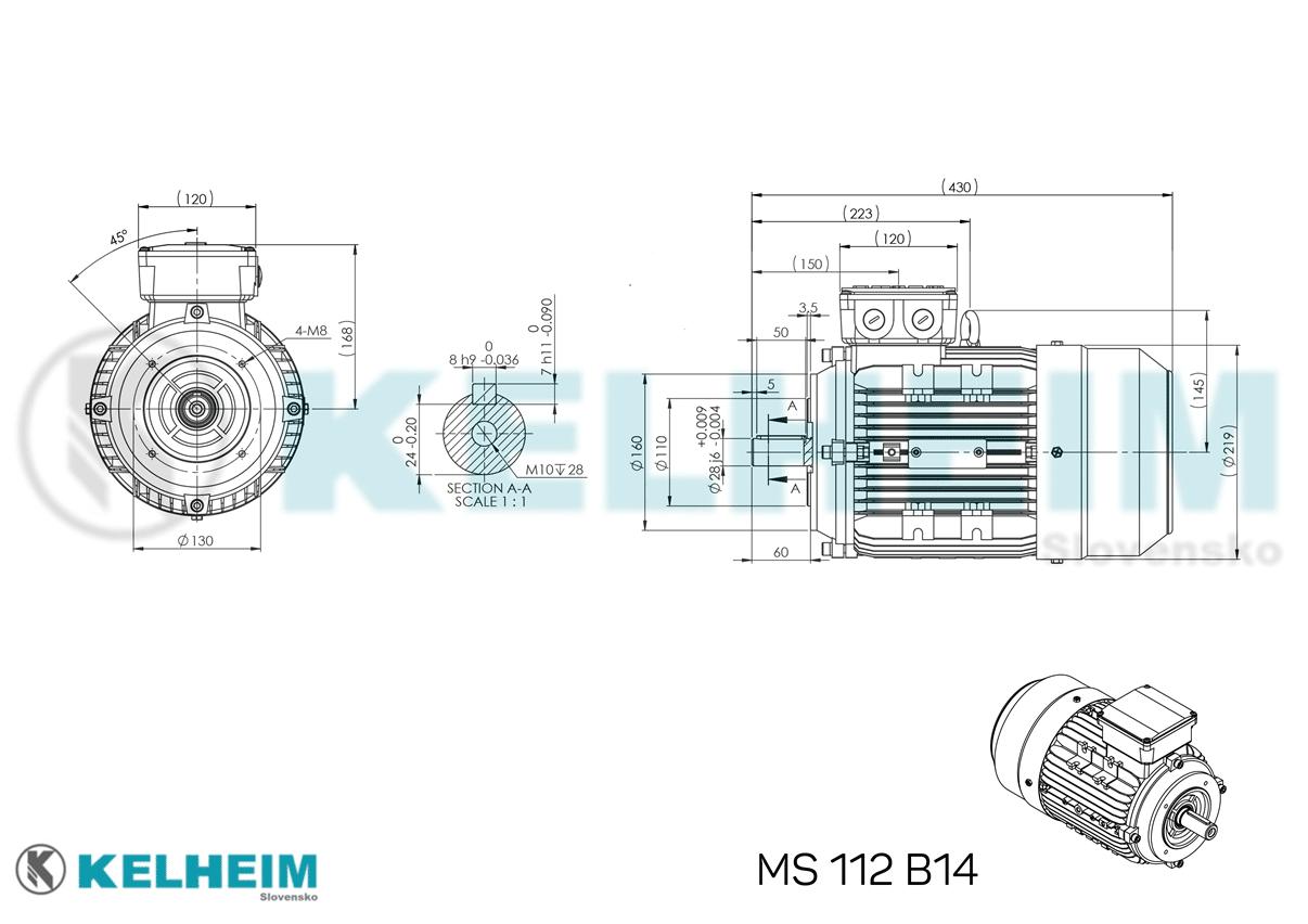 rozměrový výkres MS112B14