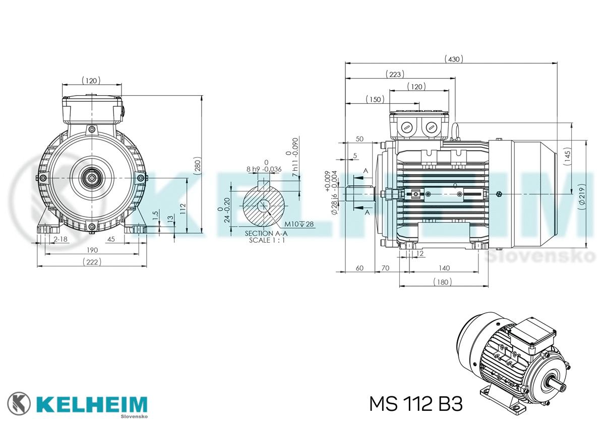 rozměrový výkres MS112B3