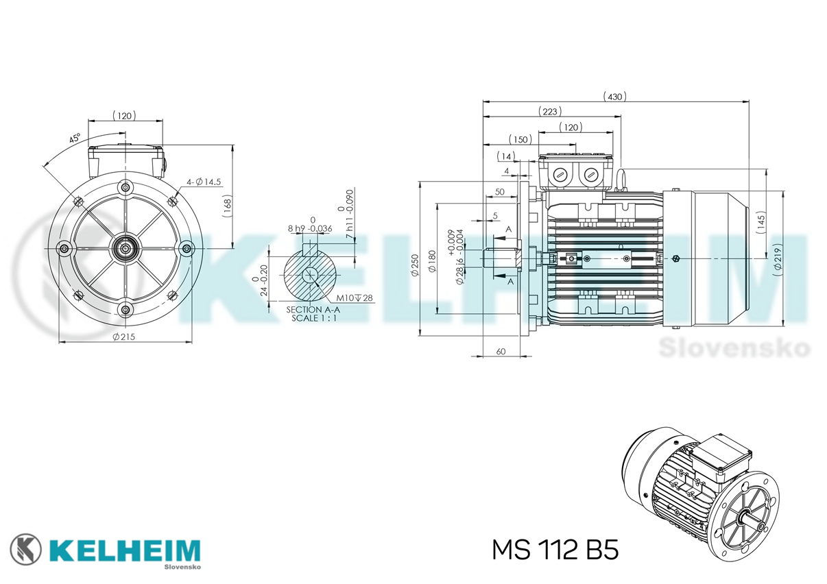 rozměrový výkres MS112B5