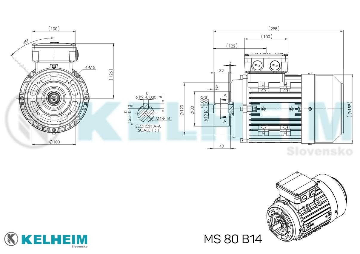 rozměrový výkres MS80B14