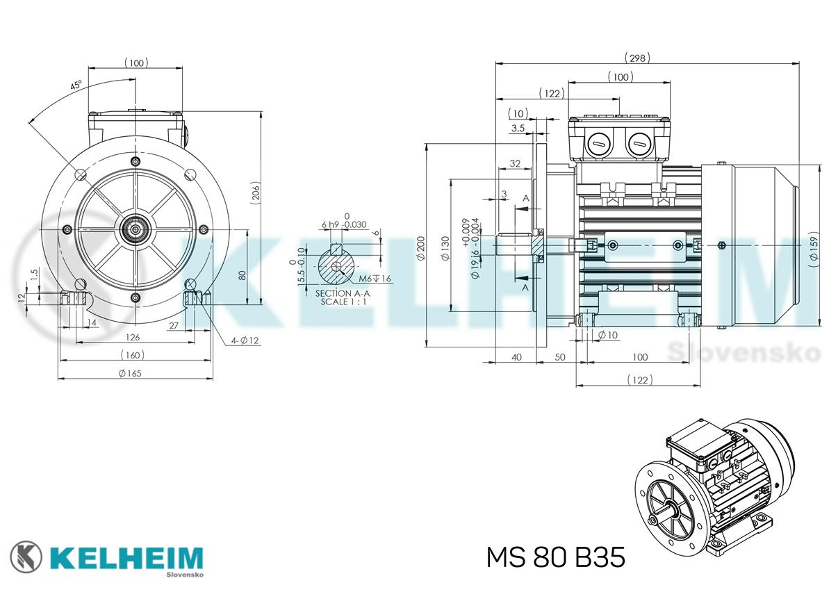 rozměrový výkres MS80B35