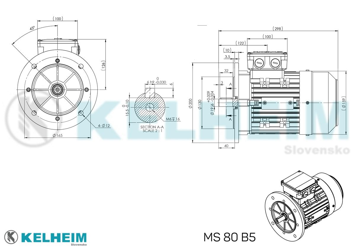 rozměrový výkres MS80B5