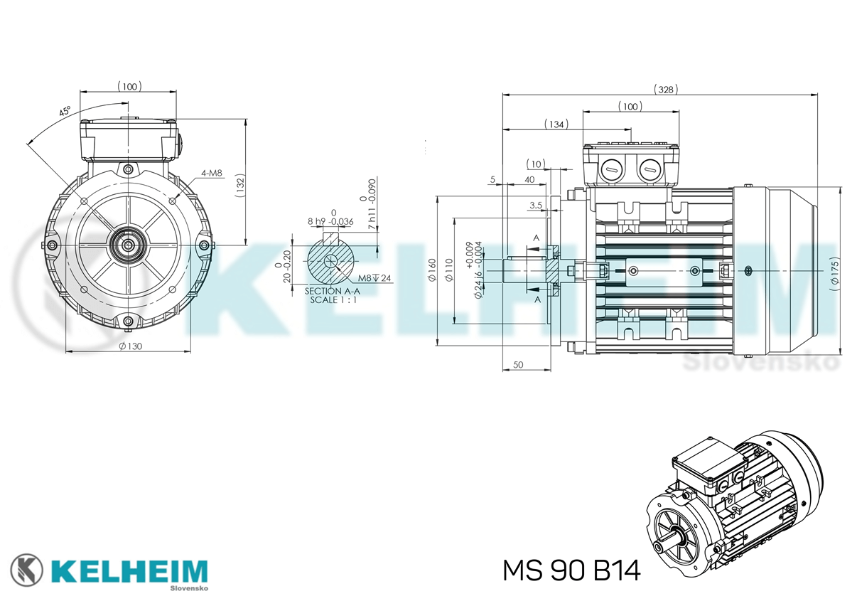 rozměrový výkres MS90B14