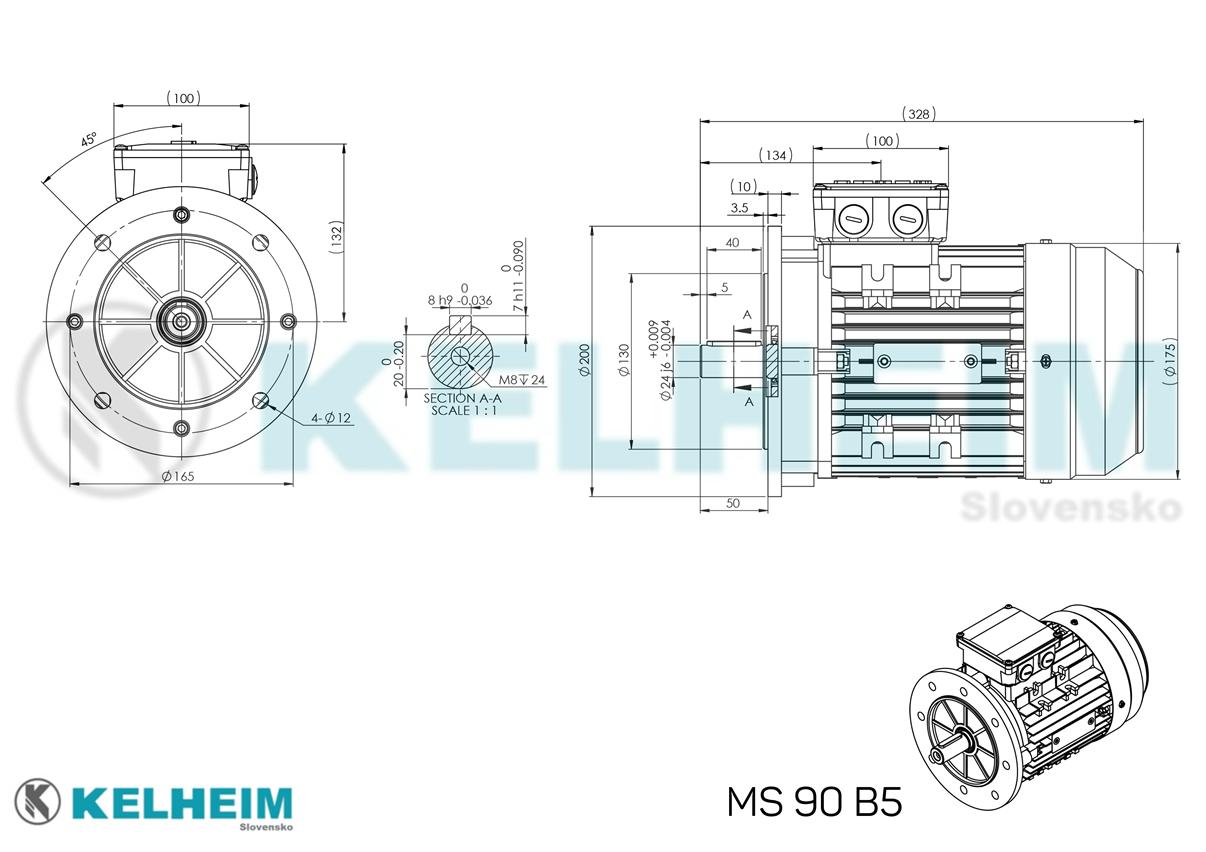 rozměrový výkres MS90B5