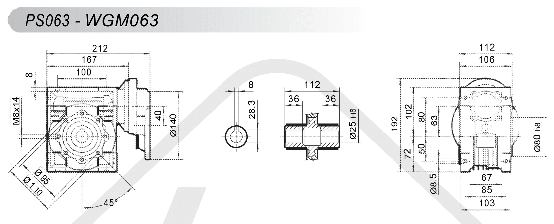 schéma zapojení čelní mezipřevodovka PS063